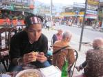 Munching Sandwich in Pokhara