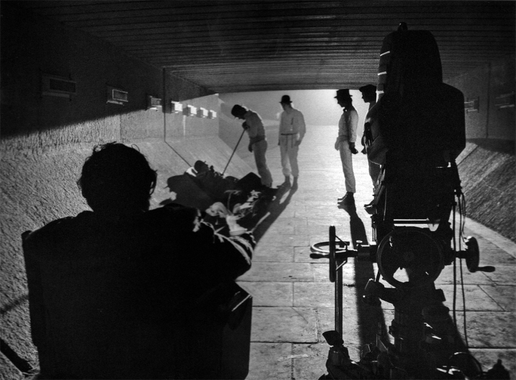 Kubrick directing A Clockwork Orange